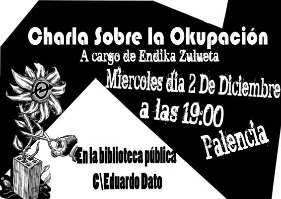 cartel charla okupacion