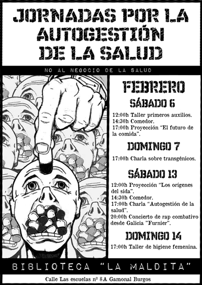 Cartel jornadas autogestion por la salud