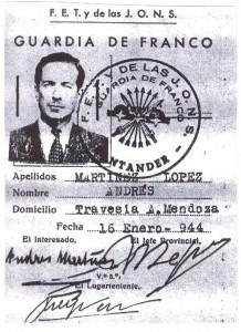 Carnet falso Julio 1948