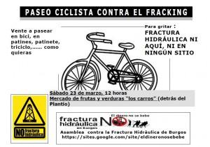 bicicletada contra fracking