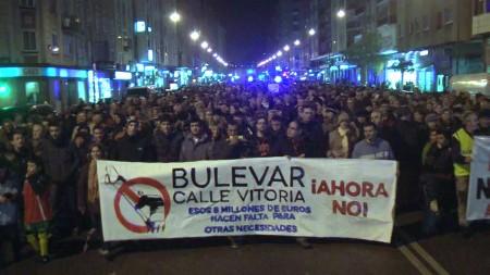 Manifestación contra el bulevar