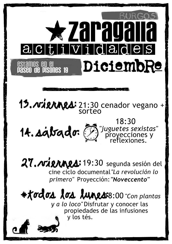 cartel zaragalla diciembre