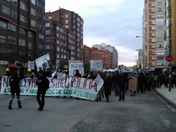manifestación calle vitoria
