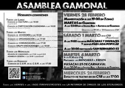 Asamblea de Gamonal Actividades