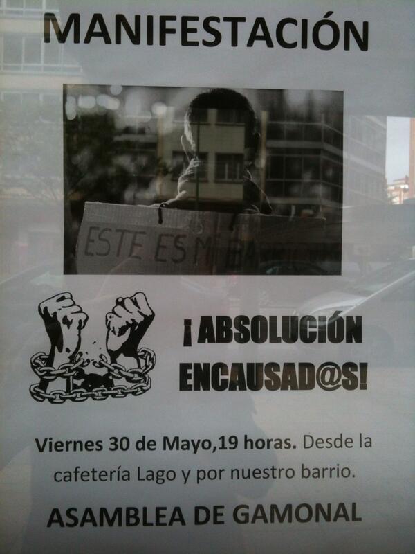 Manifestación en Gamonal 30 mayo
