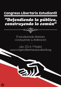 congreso libertario estudiantil