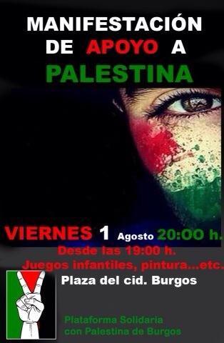 Manifestación de apoyo a Gaza