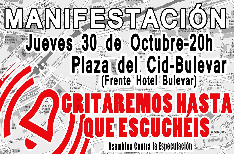 Manifestación plaza del cid-Villalar