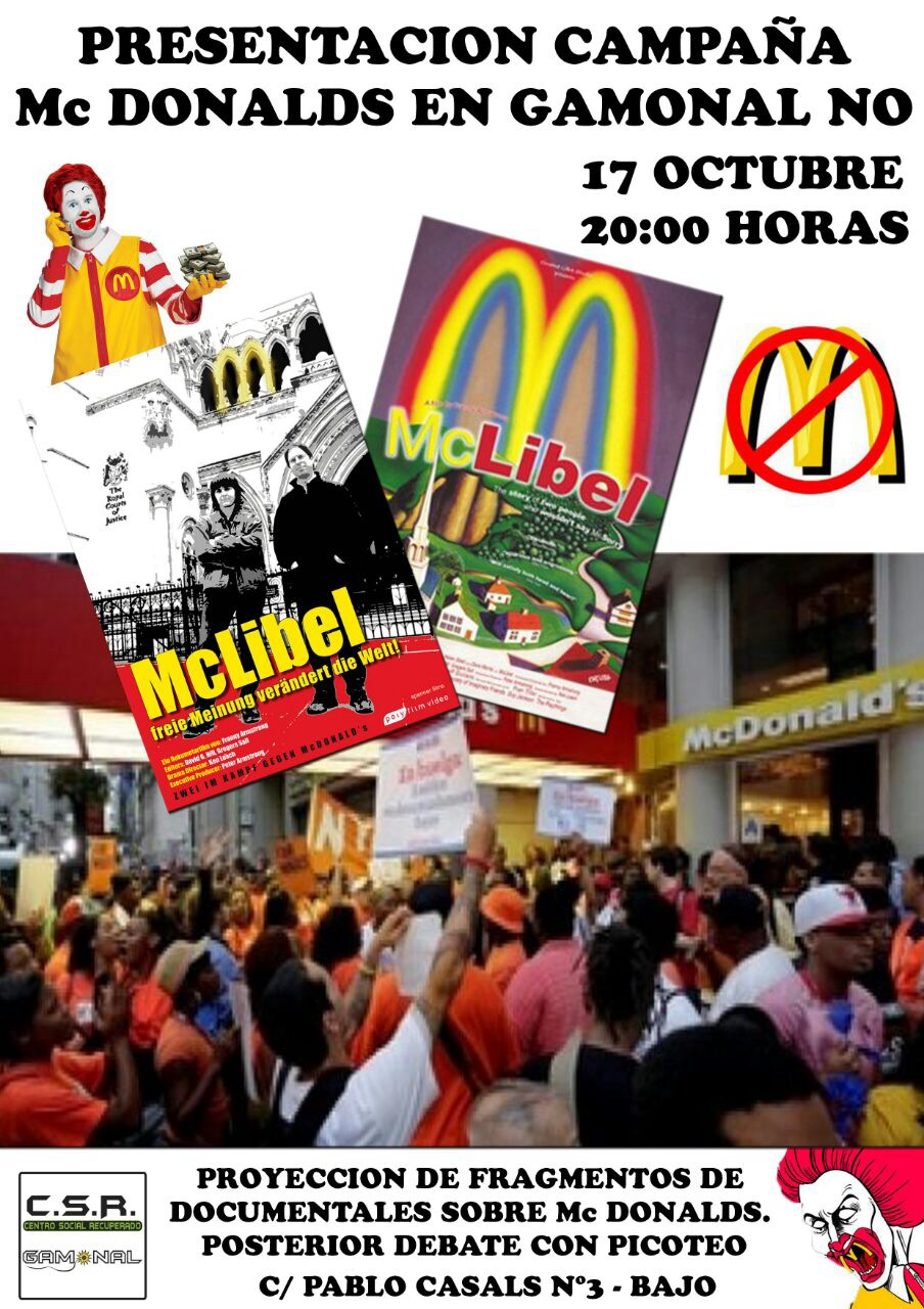 No Mc Donals Gamonal