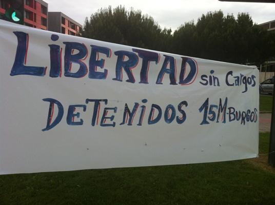 libertad sin cargos detenidos 15M Burgos