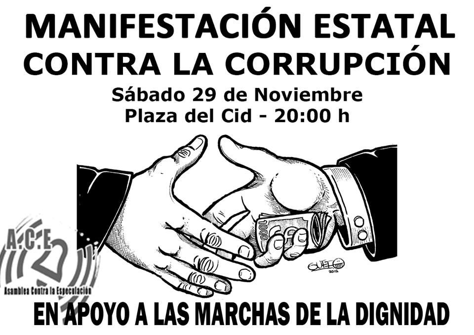 Manifestación estatal contra la corrupción