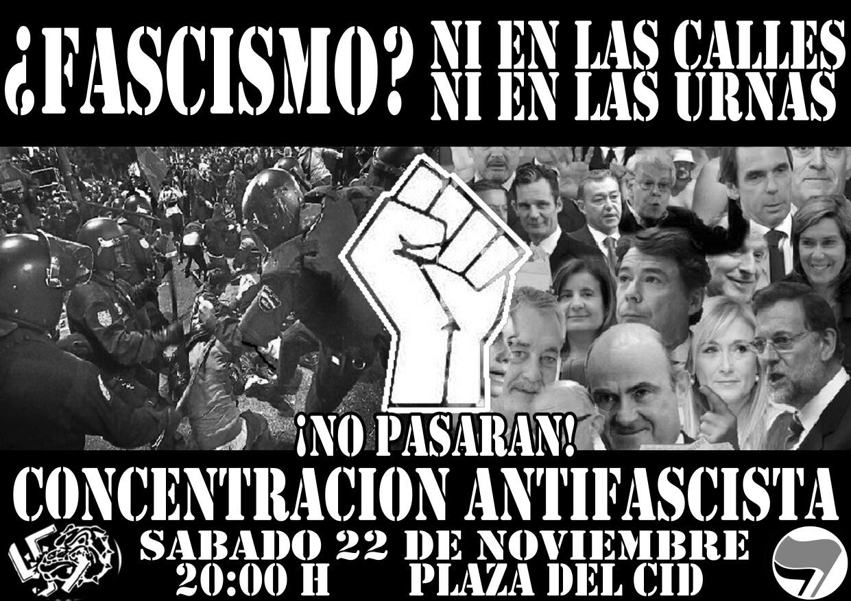 concentración antifascista burgos