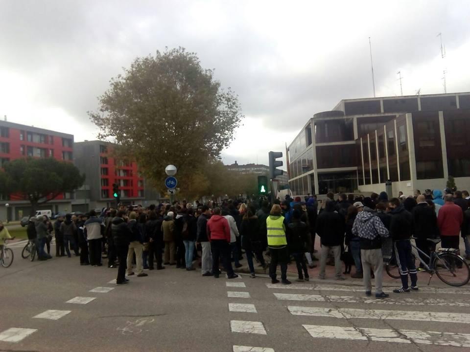 concentración comisaría de Burgos