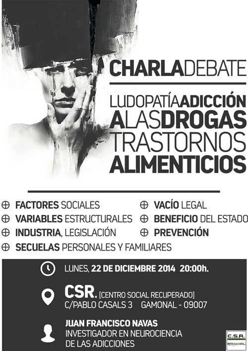 CharlaLudopatiaAdiccionDrogasTranstornosAlimenticios