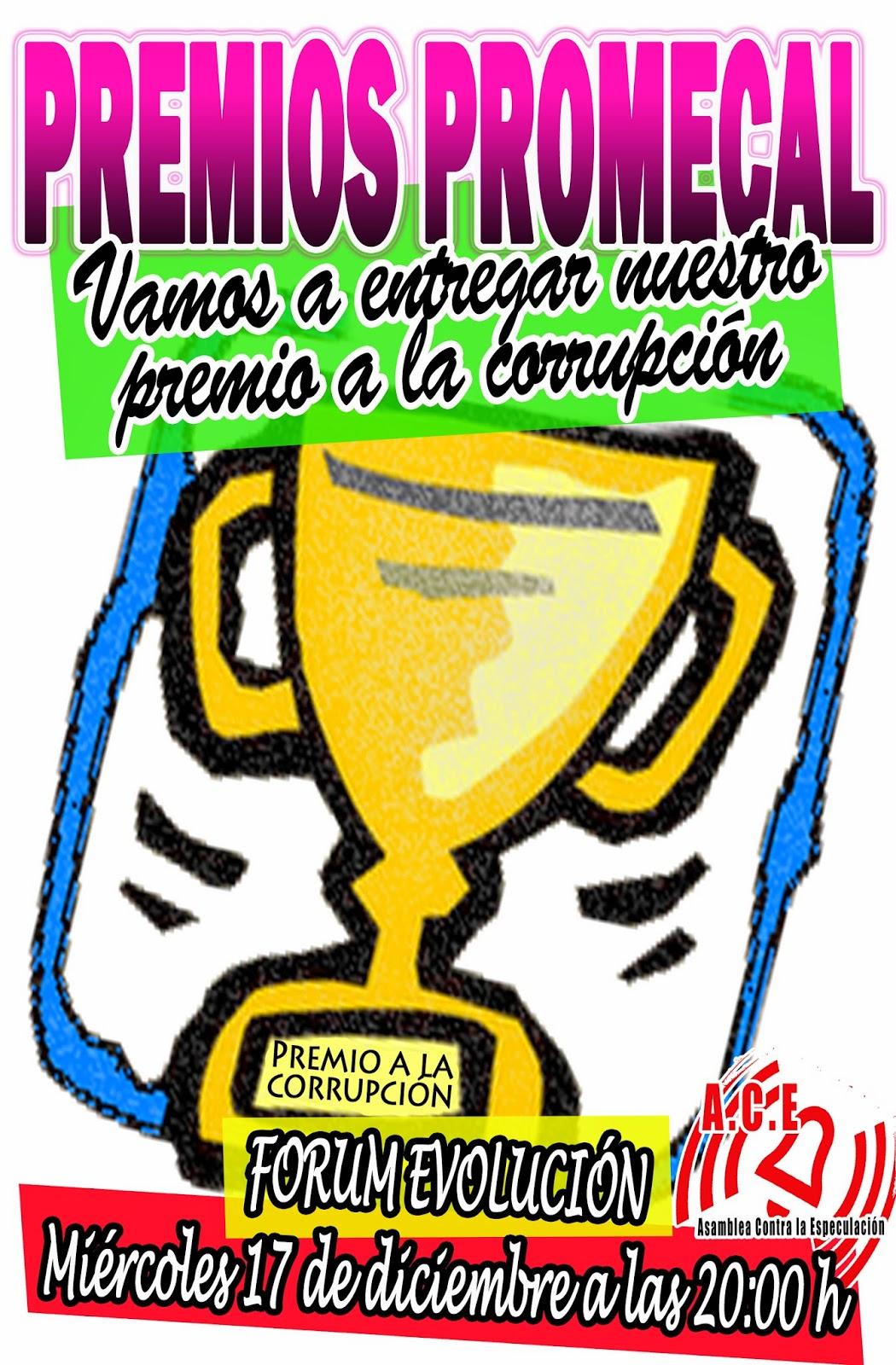 Premios Promecal corrupción