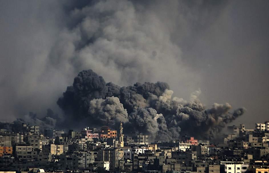 Bombardeo sobre Palestina