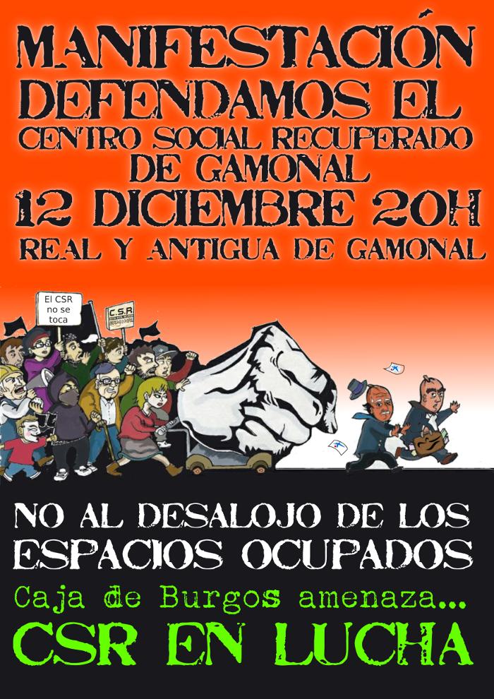 Manifestación en defensa del CSR