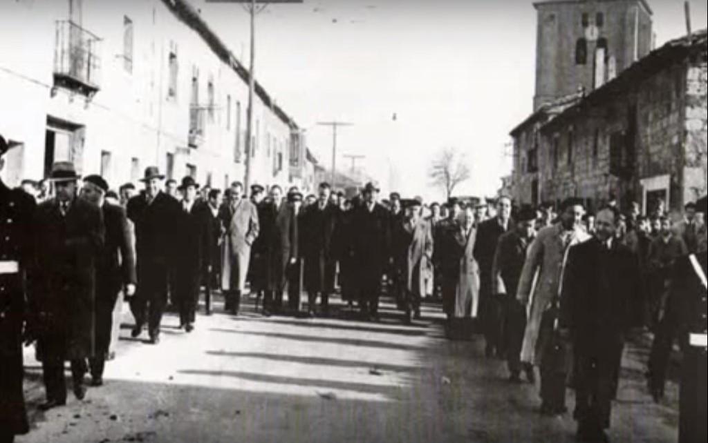 Procesión autoridades anexión de Gamonal a Burgos